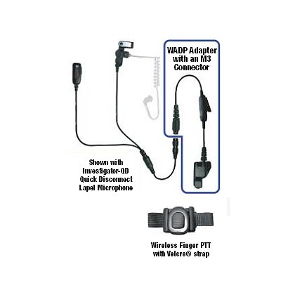 Code Red Adapter for Quick Disconnect Microphone to a Wrist Push-To-Talk