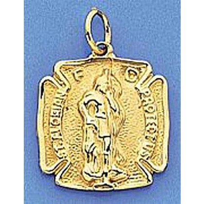 Small 14K Gold St. Florian Charm