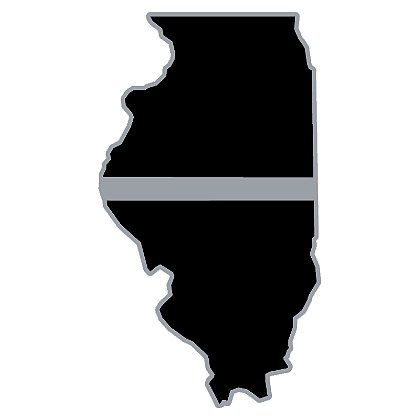Exclusive Thin White Line State Decal