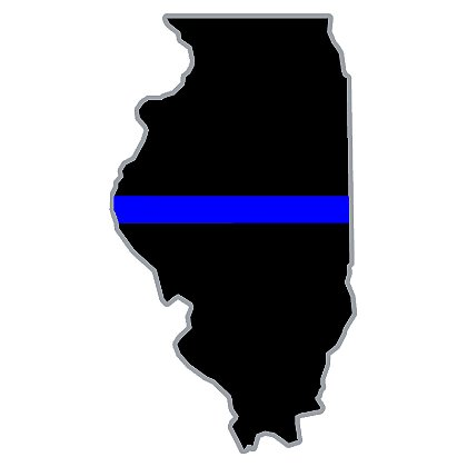 Exclusive Thin Blue Line State Decal