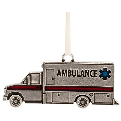 Danforth Pewter Ambulance Ornament