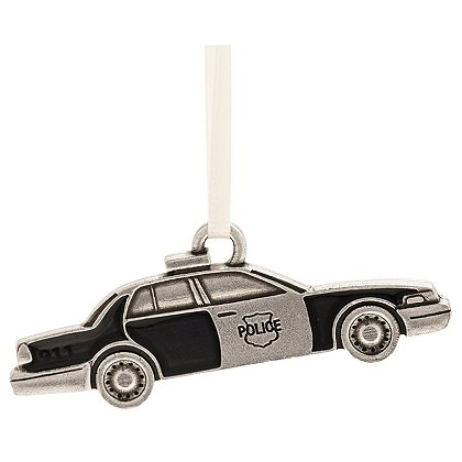 Danforth Pewter Police Car Ornament