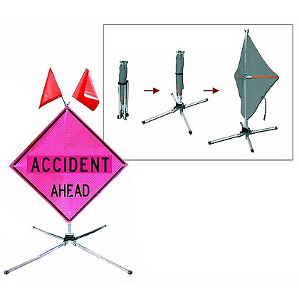 Dicke Fold & Roll, Fluorescent Pink Emergency Traffic System