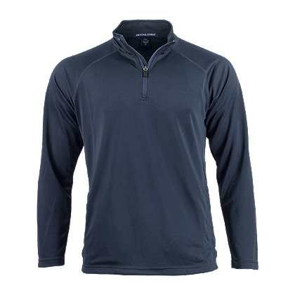 Devon & Jones Men's Stretch Tech-Shell Compass Quarter-Zip Pullover, Navy