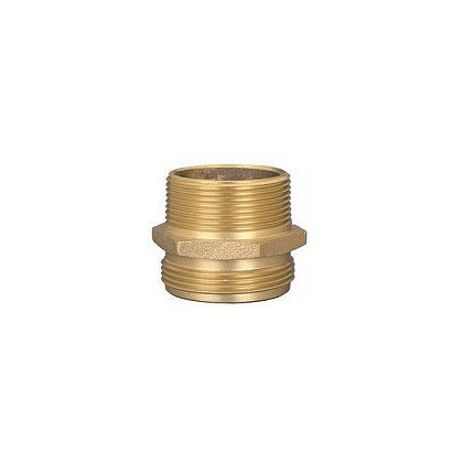 Dixon Double Male Hex Brass Nipple