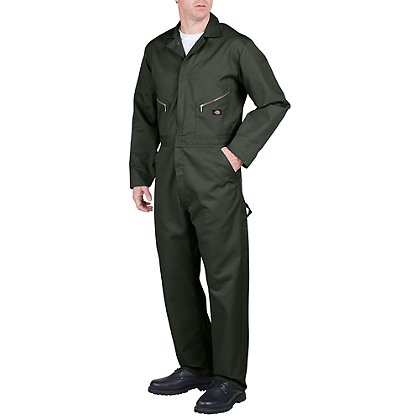 Dickies Coveralls, Poly/Cotton Blend, Olive Green