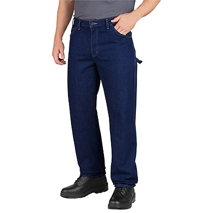 Dickies Premium 100% Cotton Industrial Grade Carpenter Jeans, Indigo Blue