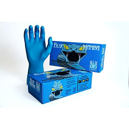 Black Mamba Blue 6.0 mil Nitrile Gloves