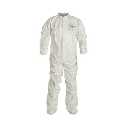 DUPONT™  TYCHEM® SL Coverall with Laydown Collar and Integrated Socks, 4 per case