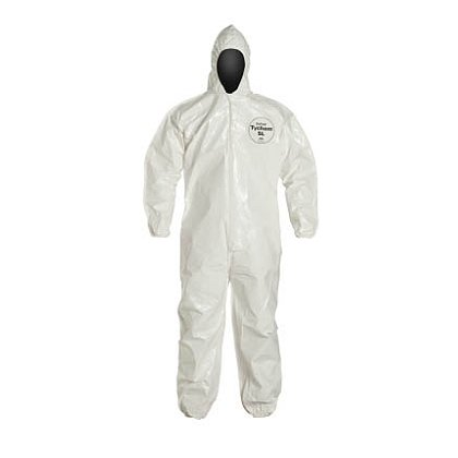 DUPONT™ TYCHEM® SL COVERALL, Elastic Opening at Wrists and Ankles, 6 per case