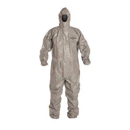 DUPONT™  TYCHEM® F Coverall, Elastic Openings at Wrists and Ankles, 6 per case