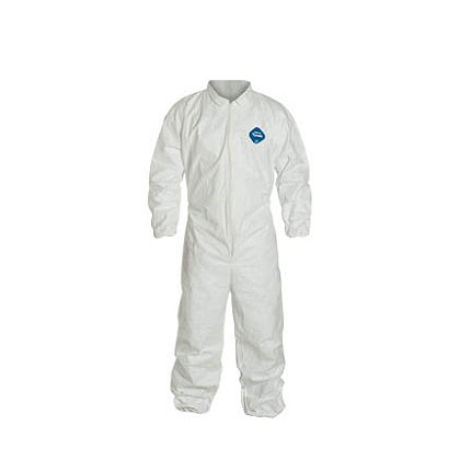 DUPONT™ TYVEK® COVERALL Comfort Fit Design with Collar, Elastic Wrists, Ankles and Waist. 25 per case