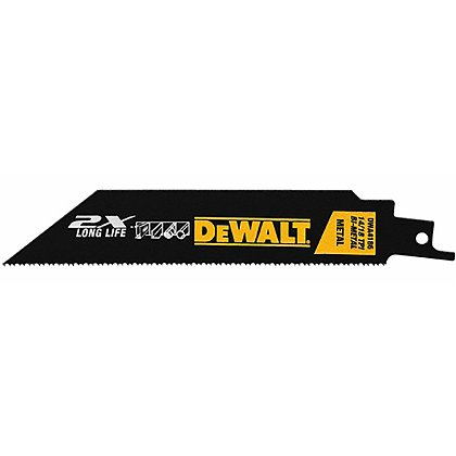Dewalt 5 Pack of 14/18 TPI 2X Long Life Metal Cutting Demolition Reciprocating Saw Blades