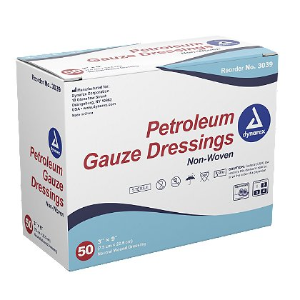 Dynarex Petroleum Gauze Dressings