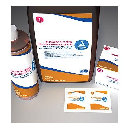 Dynarex Povidone Prep Pad, Medium
