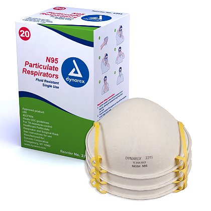 Dynarex N95 Particulate Respirator Mask