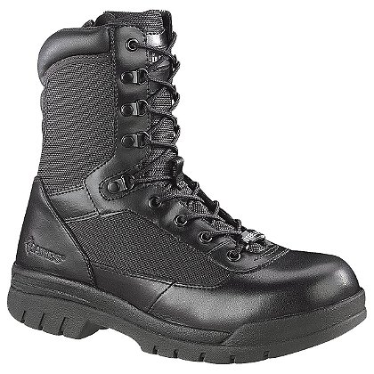 "Bates Men's 8"" Steel Toe Side Zip Boot, Black"