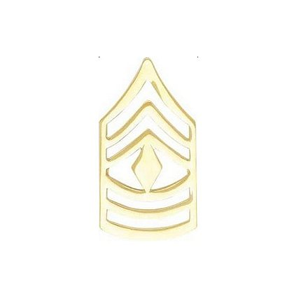 Smith & Warren First Sergeant Chevron Collar Pin, 1.52