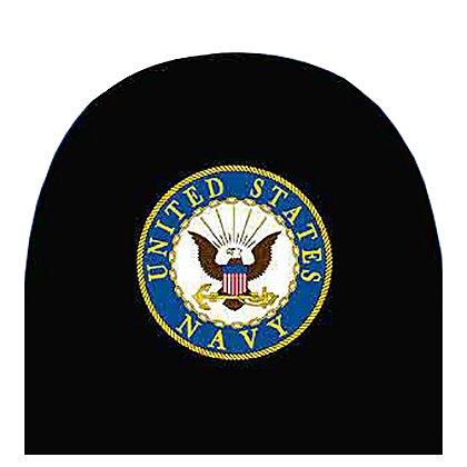 Eagle Emblems Navy Car Headrest Cover