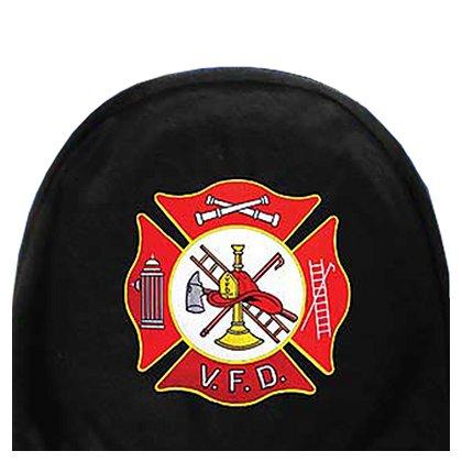 Eagle Emblems Volunteer Fire Dept. Maltese Cross Car Headrest Cover