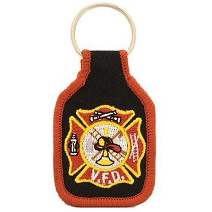 Volunteer Fire Department Embroidered Key Ring