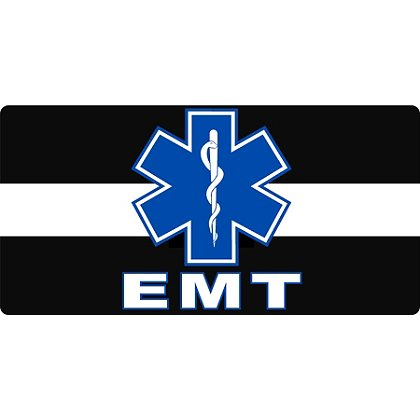 TheEMSstore The Thin White Line with Star of Life and EMT