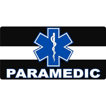 TheEMSstore The Thin White Line with Star of Life and PARAMEDIC