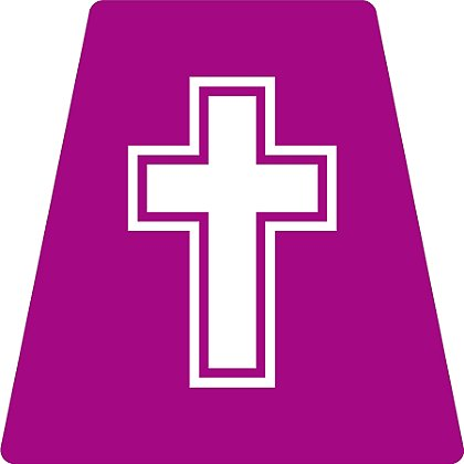 Exclusive Purple Cross Chaplain Tetrahedron Decal