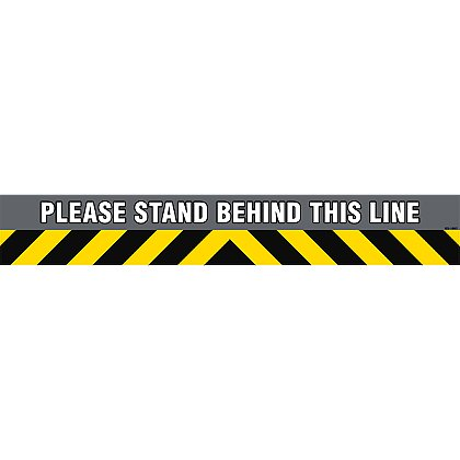 Exclusive Wellness Stand Behind This Line Floor Decal