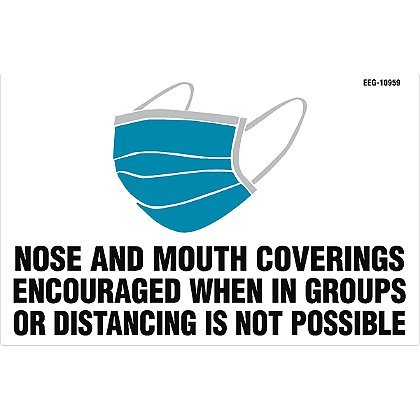 Exclusive Wellness Face Covering Encouraged Decal