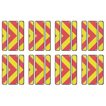 Exclusive Reflective Full Perimeter Trim, Chevron V, Pkg of 8