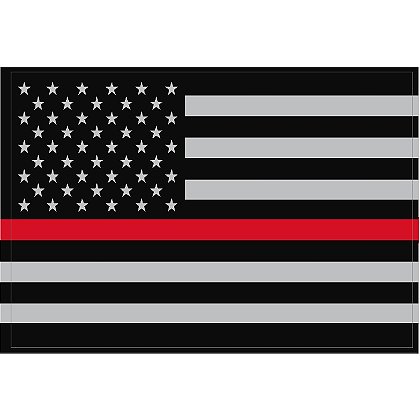 Exclusive Reflective Subdued Thin Red Line U.S. Flag Decal