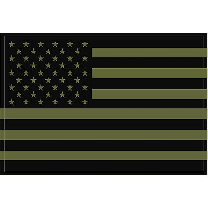 Exclusive Reflective U.S. Flag Decals