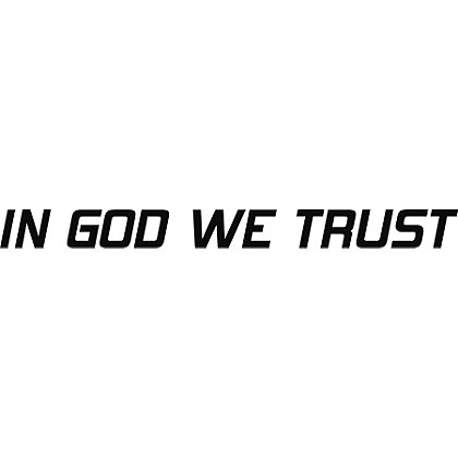 Exclusive In God We Trust Reflective Decal
