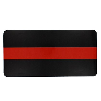 Exclusive Thin Red Line Aluminum License Plate