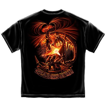 Erazor Bits Fear No Evil Firefighter Dragon T-Shirt