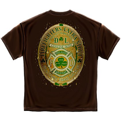 Elite Breed Ireland's Bravest Firefighters Extra Stout T-Shirt