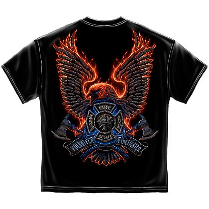 Volunteer Firefighter Fire Eagle T-Shirt