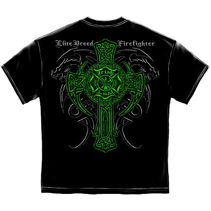 Elite Breed Irish Dragon Firefighter T-Shirt