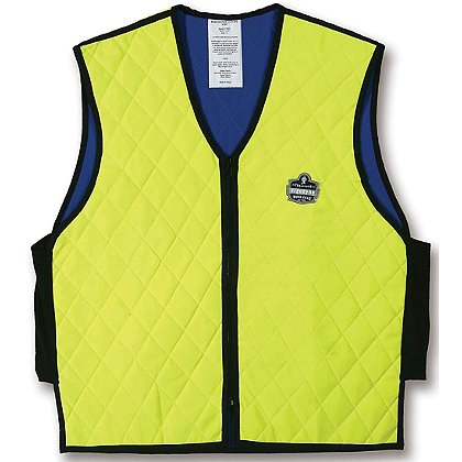 Ergodyne Chill-Its Evaporative Cooling Vest, Hi-Vis Lime