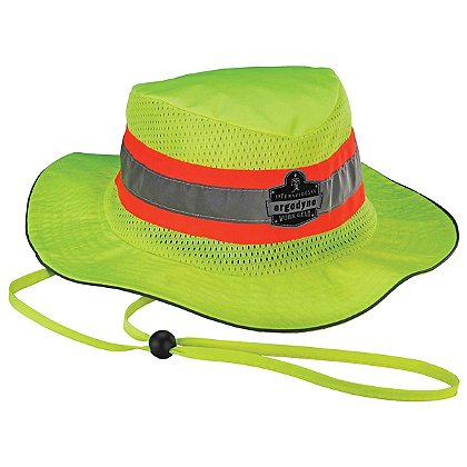 Ergodyne Hi-Vis Lime Ranger Hat with Evaporative PVA Cooling Towel