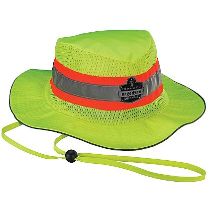 Ergodyne Hi-Vis Lime Ranger Hat with Evaporative Microfiber Cooling Towel