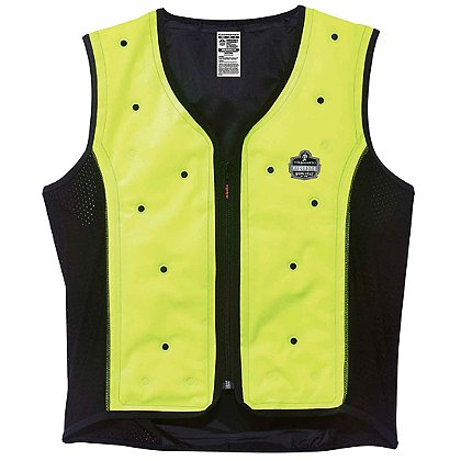 Ergodyne Chill-Its Dry Evaporative Cooling Vest, Hi-Vis Lime
