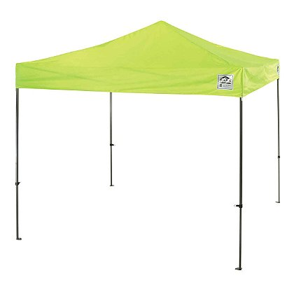 Ergodyne Shax 10' x 10' Lightweight Pop-Up Tent, Hi-Vis Lime