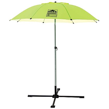 "Ergodyne Shax 84"" Lightweight Industrial Umbrella, Hi-Vis Lime"