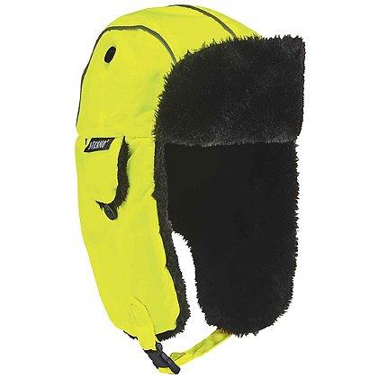 Ergodyne N-Ferno Classic Trapper Hat, Hi-Vis Lime