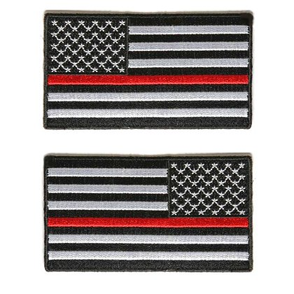 Thin Red Line Usa Flag Patch Subdued W Velcro
