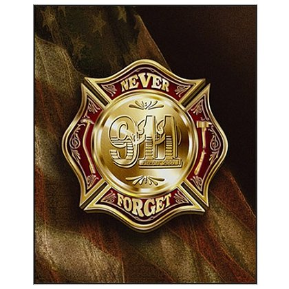 Fire Art Inc Colors of Remembrance Firefighter Poster
