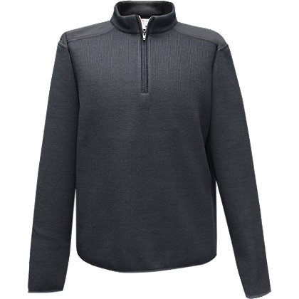 Flying Cross Fleece-Lined 1/4 Zip Neck Sweater, 30% Poly/33% Wool/37% Acrylic