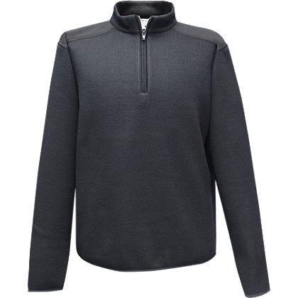 Flying Cross Fleece-Lined 1/4 Zip Neck Sweater, 30% Poly/33% Wool/37% Acrylic
